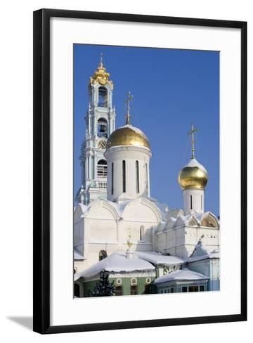 Russia, Golden Ring, Sergiev-Posad, Cathedral of Trinity--Framed Art Print