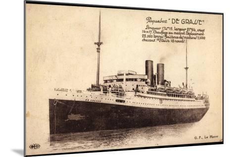 Paquebot De Grasse, Cgt, Dampfschiff, Frankreich--Mounted Giclee Print