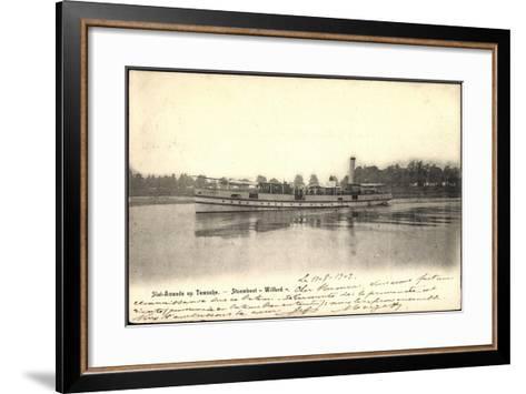 Sint Amands Op Temsche, Stoomboot Wilford--Framed Art Print