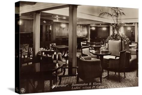Hapag, Dampfschiff Imperator, Damensalon Der II--Stretched Canvas Print