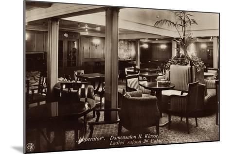 Hapag, Dampfschiff Imperator, Damensalon Der II--Mounted Giclee Print