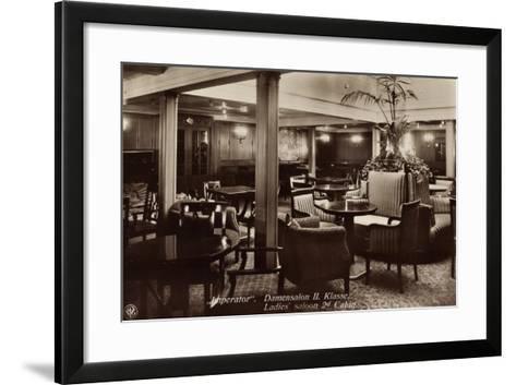 Hapag, Dampfschiff Imperator, Damensalon Der II--Framed Art Print