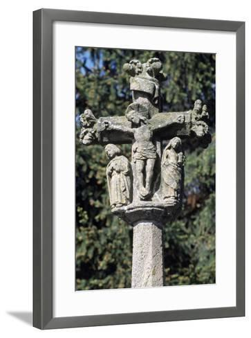 The Crucifixion, Detail from Monument Cross, Arlempdes, Auvergne--Framed Art Print