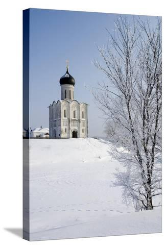 Russia, Golden Ring, Bogolyubovo, Church of Intercession on Nerl--Stretched Canvas Print