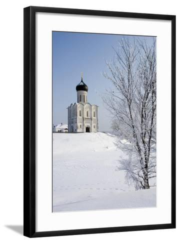 Russia, Golden Ring, Bogolyubovo, Church of Intercession on Nerl--Framed Art Print