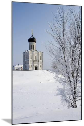 Russia, Golden Ring, Bogolyubovo, Church of Intercession on Nerl--Mounted Giclee Print