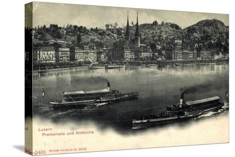 Luzern, Luzerner See, Dampfer Victoria Und Schweiz--Stretched Canvas Print