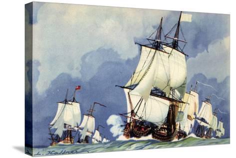 Künstler Haffner, L., Vaisseaux,La Ligne De Bataille--Stretched Canvas Print