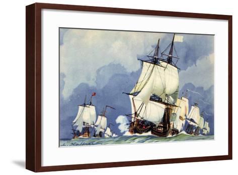 Künstler Haffner, L., Vaisseaux,La Ligne De Bataille--Framed Art Print
