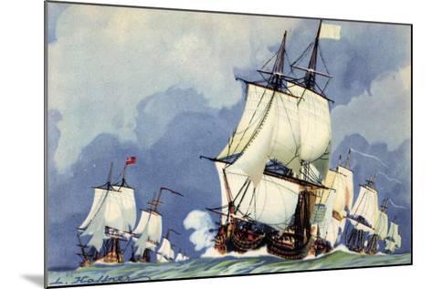 Künstler Haffner, L., Vaisseaux,La Ligne De Bataille--Mounted Giclee Print