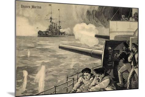 Künstler Unsere Marine, Deutsche Matrosen Im Gefecht--Mounted Giclee Print