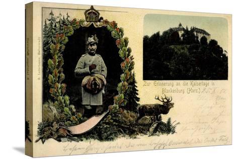 Litho Blankenburg Harz, Erinnerung an Die Kaisertage--Stretched Canvas Print