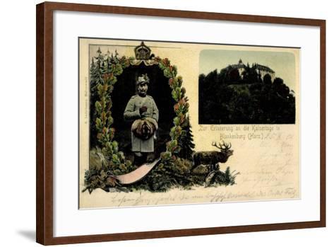 Litho Blankenburg Harz, Erinnerung an Die Kaisertage--Framed Art Print