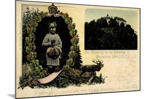 Litho Blankenburg Harz, Erinnerung an Die Kaisertage--Mounted Giclee Print