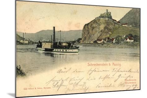 Schreckenstein Bei Aussig, Dampfer, Fabrik--Mounted Giclee Print