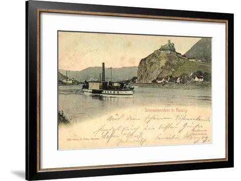 Schreckenstein Bei Aussig, Dampfer, Fabrik--Framed Art Print