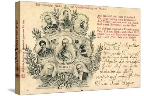 Zar Nikolaus, Kaiser Mutsuhito, Franz Josef, Wilhelm--Stretched Canvas Print