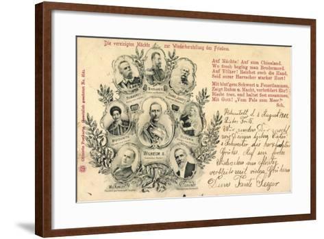 Zar Nikolaus, Kaiser Mutsuhito, Franz Josef, Wilhelm--Framed Art Print