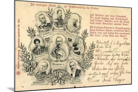 Zar Nikolaus, Kaiser Mutsuhito, Franz Josef, Wilhelm--Mounted Giclee Print