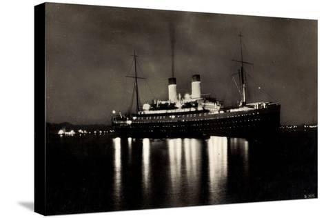 HSDG, Dampfschiff M.S. Monte Rosa Bei Nacht--Stretched Canvas Print