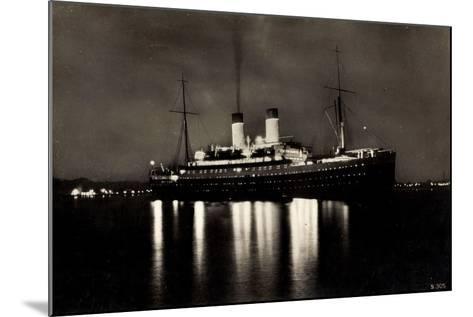HSDG, Dampfschiff M.S. Monte Rosa Bei Nacht--Mounted Giclee Print