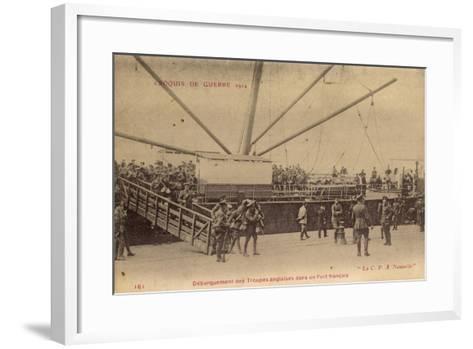 Troupes Anglaises, Port Francais, C.P.A Nouvelle--Framed Art Print