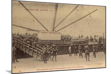 Troupes Anglaises, Port Francais, C.P.A Nouvelle--Mounted Giclee Print