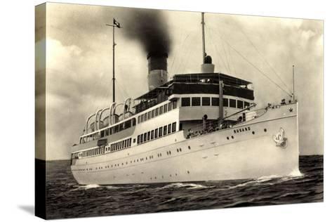 Reederei Braeunlich Stettin, S.S. Rugard, Dampfer--Stretched Canvas Print