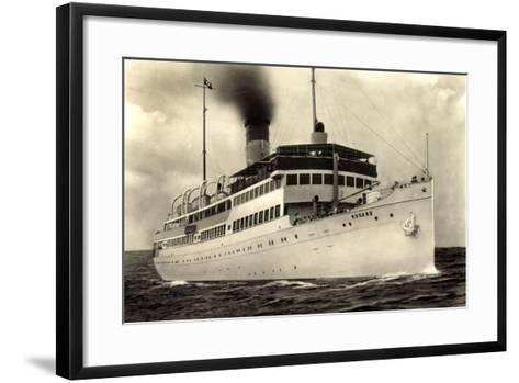 Reederei Braeunlich Stettin, S.S. Rugard, Dampfer--Framed Art Print