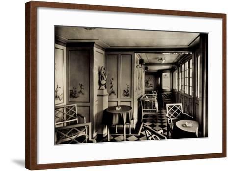 Dampfschiff Stuttgart, Lloyd Bremen, Laube an Deck--Framed Art Print