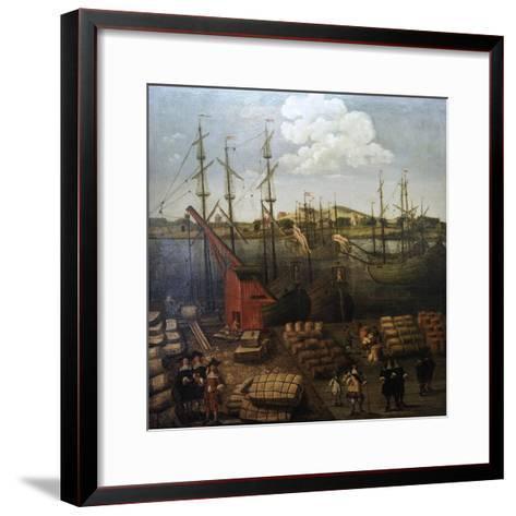 Port of Riga--Framed Art Print