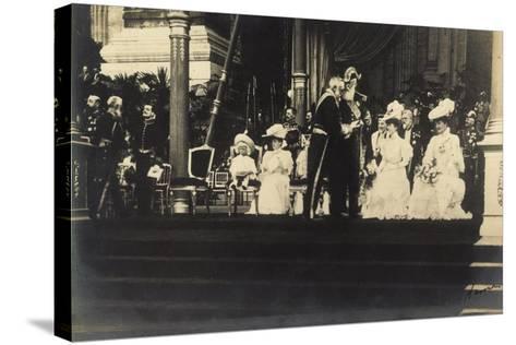 Adel Belgien, Leopold II, Empfang, Damen, Kinder--Stretched Canvas Print