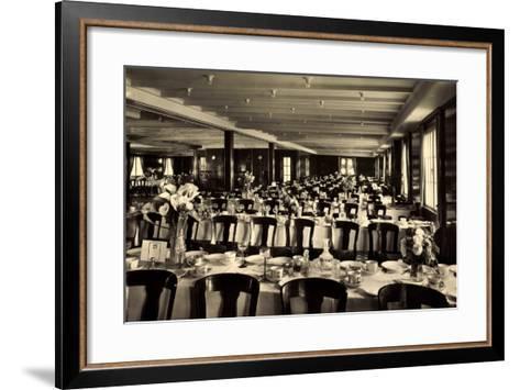 HSDG, Dampfer, M.S. Monte Rosa, Speisesaal--Framed Art Print