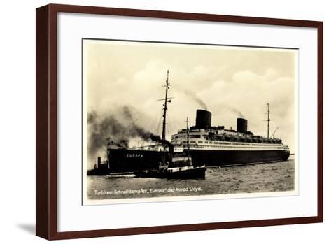 Norddeutscher Lloyd Bremen, Dampfer Europa--Framed Art Print