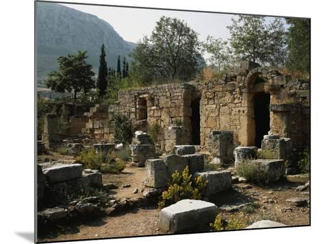 Remains of the Roman Agora with Shops, Corinth, Greece--Mounted Giclee Print