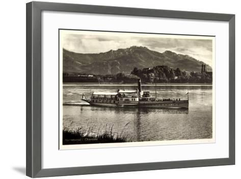 Herreninsel Chiemsee, Dampfer Ludwig Fessler--Framed Art Print