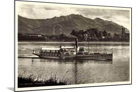 Herreninsel Chiemsee, Dampfer Ludwig Fessler--Mounted Giclee Print