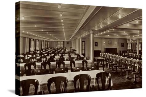HSDG, M.S. Monte Olivia, Dampfschiff, Speisesaal--Stretched Canvas Print