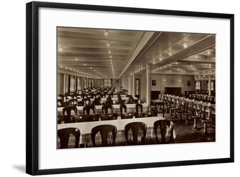 HSDG, M.S. Monte Olivia, Dampfschiff, Speisesaal--Framed Art Print