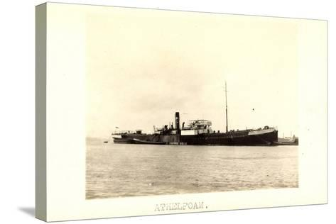 Foto View of Steamer Athelfoam Near a City--Stretched Canvas Print