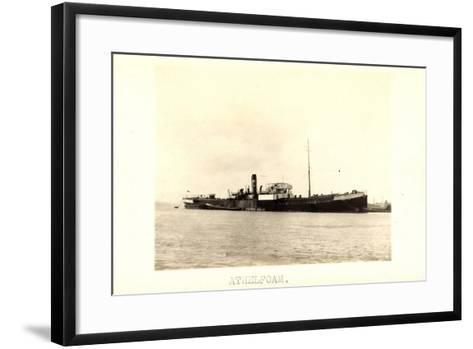 Foto View of Steamer Athelfoam Near a City--Framed Art Print