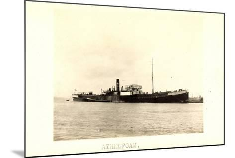 Foto View of Steamer Athelfoam Near a City--Mounted Giclee Print