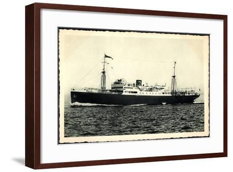 Adriatica Line, Dampfschiff San Marco, Paquebot--Framed Art Print