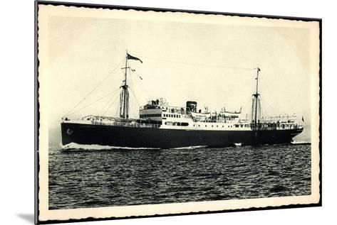 Adriatica Line, Dampfschiff San Marco, Paquebot--Mounted Giclee Print