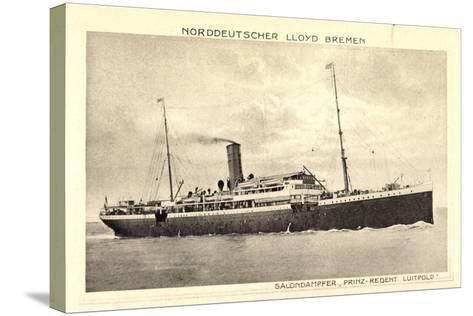 Norddeutscher Lloyd Bremen, Dampfer Prinz Luitpold--Stretched Canvas Print