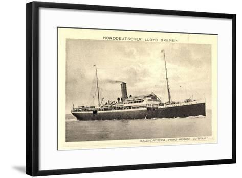 Norddeutscher Lloyd Bremen, Dampfer Prinz Luitpold--Framed Art Print
