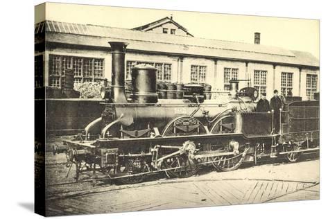 Eisenbahnen, Frankreich, Dampflok, Machine 842--Stretched Canvas Print