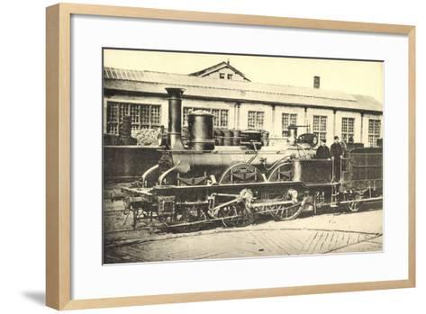Eisenbahnen, Frankreich, Dampflok, Machine 842--Framed Art Print