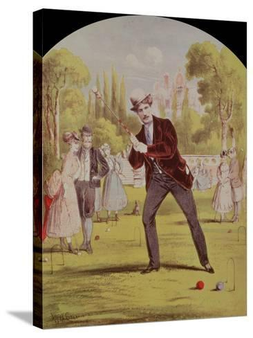 Song Sheet Cover with Print of Croquet, Edwardian--Stretched Canvas Print