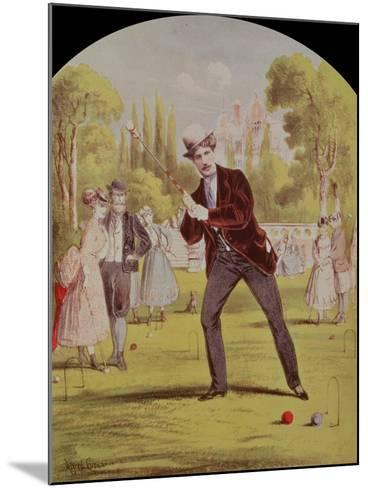 Song Sheet Cover with Print of Croquet, Edwardian--Mounted Giclee Print